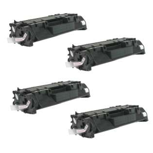 Compatible HP CE505A (05A) toner cartridges - JUMBO capacity (EXTRA high capacity yield) - Pack of 4