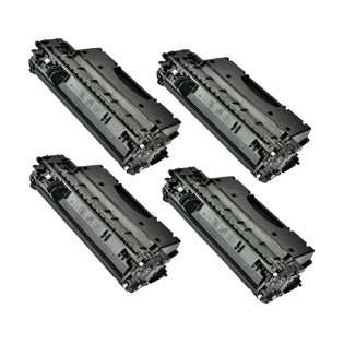 Compatible HP 05X, CE505X toner cartridges, high capacity yield (pack of 4)