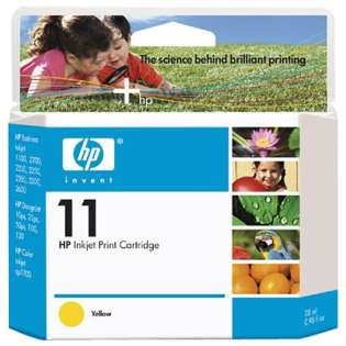 HP 11, C4838A Genuine Original (OEM) ink cartridge, yellow