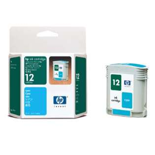 HP 12, C4804A Genuine Original (OEM) ink cartridge, cyan