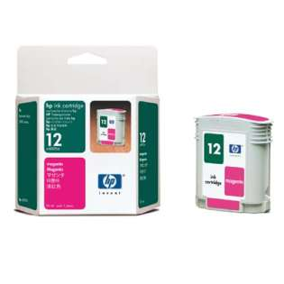 HP 12, C4805A Genuine Original (OEM) ink cartridge, magenta