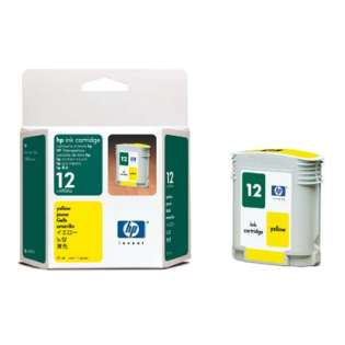 HP 12, C4806A Genuine Original (OEM) ink cartridge, yellow