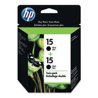 HP 15, C6653FN Genuine Original (OEM) ink cartridges, black (pack of 2)