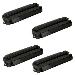 Replacement Compatible HP C7115X (15X), Q2613A (13A), Q2624A (24A), Canon EP-25 toner cartridges - 4-pack