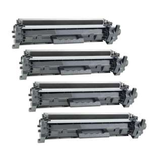 Compatible HP CF217A (17A) toner cartridges - (pack of 4)