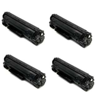 Compatible HP CF217A (17A) toner cartridges - WITHOUT CHIP - Pack of 4