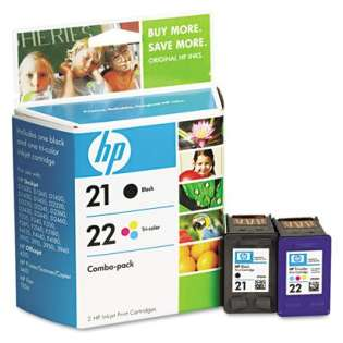 HP 21, 22, C9509FN Genuine Original (OEM) ink cartridges (pack of 2)
