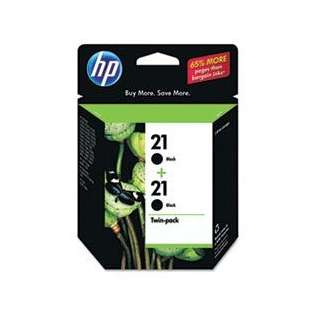 HP 21, C9508FN Genuine Original (OEM) ink cartridges, black (pack of 2)