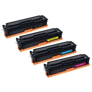 Compatible HP 305A, CE410A, CE411A, CE413A, CE412A toner cartridges (pack of 4)