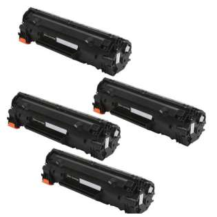 Compatible HP CF230X (30X) toner cartridge - WITHOUT CHIP - Pack of 4