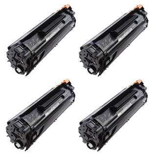 Compatible/Compatible HP CB435A (35A) toner cartridge - Pack of 4