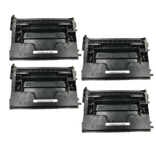 Replacement Compatible HP CF237A (37A) toner cartridges - 4-pack