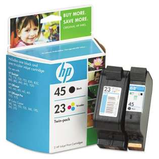 HP 45, 23, C8790FN Genuine Original (OEM) ink cartridges (pack of 2)