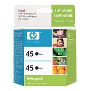 HP 45, C6650FN Genuine Original (OEM) ink cartridges, black (pack of 2)