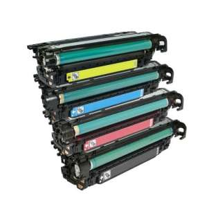 Compatible HP 504X / 504A toner cartridges - Pack of 4