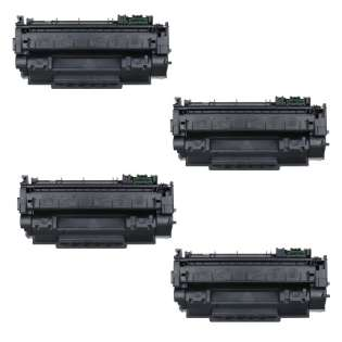 Compatible HP Q7553X (53X) toner cartridges - Pack of 4