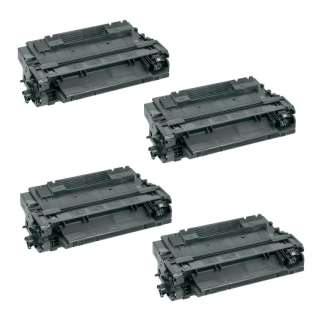 Compatible HP CE255A (55A) toner cartridges - Pack of 4