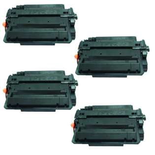 Compatible HP CE255X (55X) toner cartridges - Pack of 4