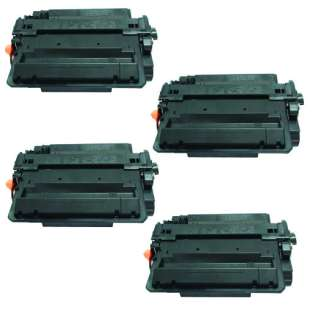 Compatible HP CE255X (55X) toner cartridges - JUMBO capacity (EXTRA high capacity yield) - Pack of 4