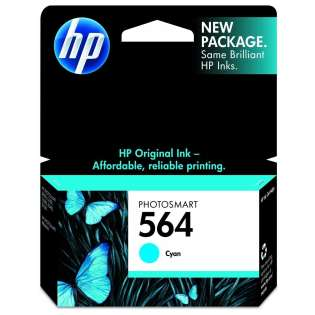 HP 564, CB318WN Genuine Original (OEM) ink cartridge, cyan, 300 pages