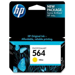 HP 564, CB320WN Genuine Original (OEM) ink cartridge, yellow, 300 pages