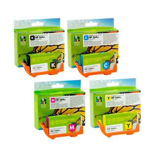 Premium HP 564XL ink cartridges, USA made, high capacity yield (pack of 4)