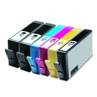Remanufactured HP 564XL ink cartridges, high capacity yield, 6 pack