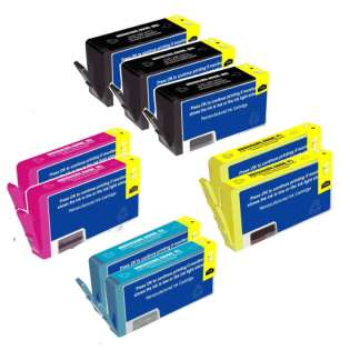 Remanufactured HP 564XL ink cartridges, high capacity yield, 9 pack