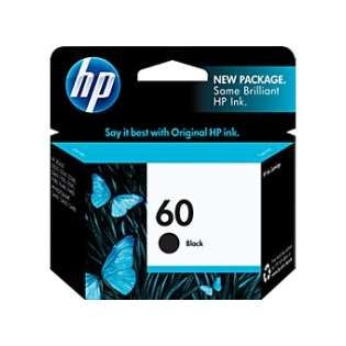 HP 60, CC640WN Genuine Original (OEM) ink cartridge, black