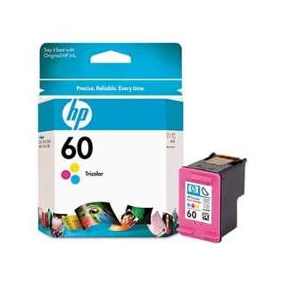 HP 60, CC643WN Genuine Original (OEM) ink cartridge, tri-color