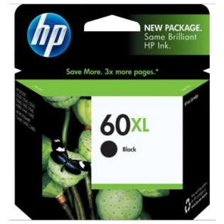 HP 60XL, CC641WN Genuine Original (OEM) ink cartridge, high capacity yield, black