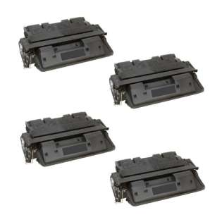 Compatible HP C8061X (61X) toner cartridges - Pack of 4