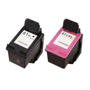 Remanufactured HP 61XL ink cartridges (pack of 2)