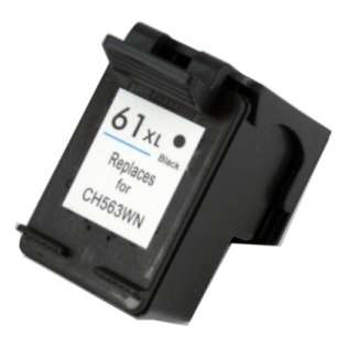 Remanufactured HP 61XL, CH563WN ink cartridge, high capacity yield, black