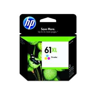 HP 61XL, CH564WN Genuine Original (OEM) ink cartridge, high capacity yield, tri-color