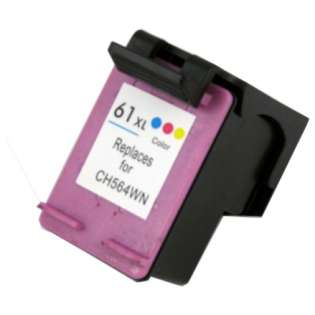 Remanufactured HP 61XL, CH564WN ink cartridge, high capacity yield, tri-color