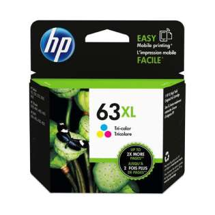 Original HP F6U63AN (HP 63XL) inkjet cartridge - high capacity yield color