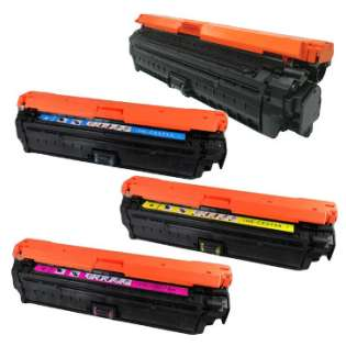 Compatible HP 650A, CE270A, CE271A, CE273A, CE272A toner cartridges (pack of 4)