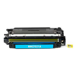 Compatible HP 653A Cyan, CF321A toner cartridge, 16500 pages, cyan