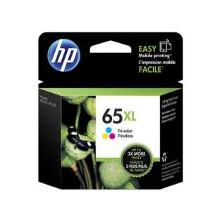OEM (genuine original) HP N9K03AN (HP 65XL) ink cartridge - high capacity color