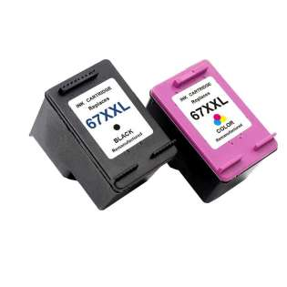 Remanufactured inkjet cartridges Multipack for HP 67XXL - 2 pack
