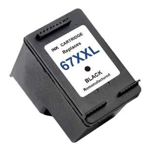 Remanufactured HP 3YM59AA (HP 67XXL) inkjet cartridge - extra high capacity black