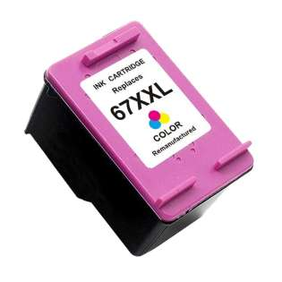 Remanufactured HP 3YP32BN (HP 67XXL) inkjet cartridge - extra high capacity color