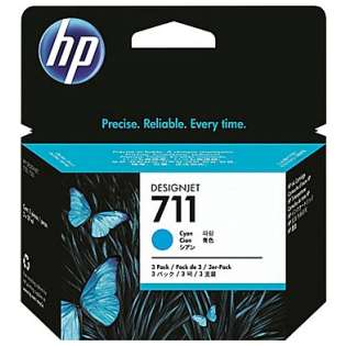 HP 711, CZ130A Genuine Original (OEM) ink cartridge, cyan