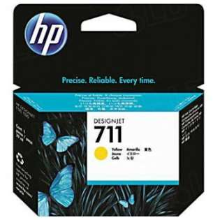 HP 711, CZ132A Genuine Original (OEM) ink cartridge, yellow