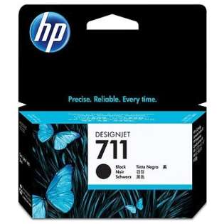 HP 711XL, CZ133A Genuine Original (OEM) ink cartridge, high capacity yield, black
