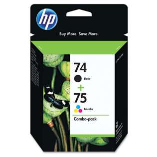 HP 74, 75, CC659FN Genuine Original (OEM) ink cartridges (pack of 2)