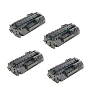 Compatible HP CF280A (80A) toner cartridges - Pack of 4