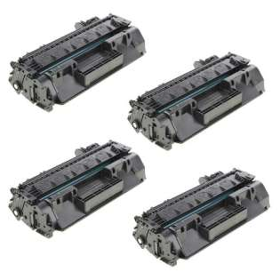 Compatible HP CF280X (80X) toner cartridges - JUMBO capacity (EXTRA high capacity yield) - Pack of 4