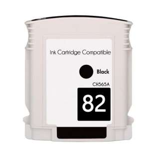 Remanufactured HP 82, CH565A ink cartridge, high capacity yield, black